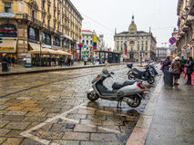 Milan street, italy Royalty Free Stock Image