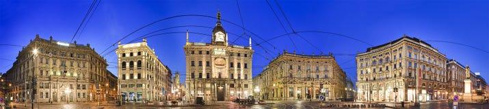 Milan Street Square Rise Pan stock foto