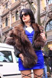 Milan street style city fashion Royalty Free Stock Images