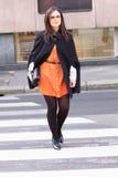 Milan streetstyle town fashion stock image