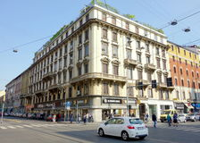 Milan Street View. A street view of Corso Buenos Aires in Milan, Italy Stock Image