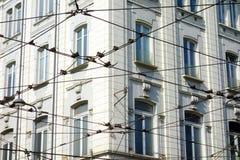 Milan Streetcar Cables Stock Photography