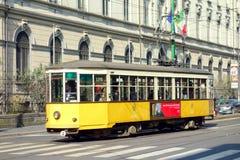 Milan Streetcar. A street view of Corso Buenos Aires in Milan, Italy Stock Photography