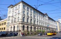 Milan Streetcar Stock Photo