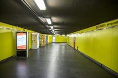 Milan Subway, Gele Lijn Stock Foto