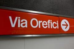 Milan subway Royalty Free Stock Photography