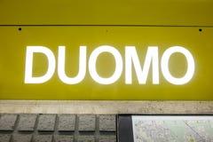 Milan subway Stock Images