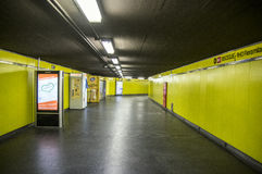 Milan Subway, Yellow Line Stock Photo