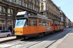 Milan tramway network Royalty Free Stock Image