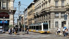 Milan tramway network Stock Images