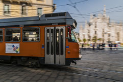 Milan transport. Typical transport in a big metropolis Stock Photo