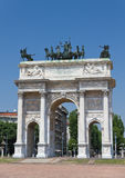 Milan triumphal arch Royalty Free Stock Photography