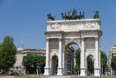 Milan triumphal arch Royalty Free Stock Image