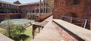Milan, University `statale` inner courtyard royalty free stock photo