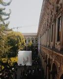 Statale university of milan. Milan university summer Royalty Free Stock Photos