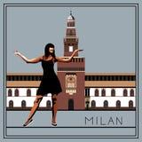 Milan vektor (illustrationen) Arkivbild