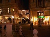 Milan vid natt Fotografering för Bildbyråer