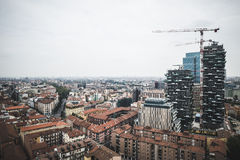 Milan View from Garibaldi towers Royalty Free Stock Photo