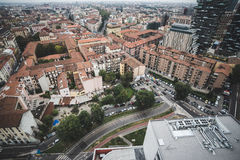 Milan View from Garibaldi towers Royalty Free Stock Photography