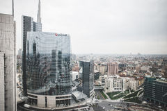 Milan View from Garibaldi towers Royalty Free Stock Images