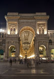 Milan - Vittorio Emanuele galleria in evening Stock Photo