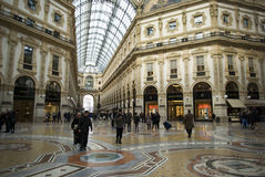 Milan, Vittorio Emanuele gallery interior view Royalty Free Stock Images