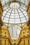 Milan, Vittorio Emanuele II urban gallery, Italian architecture. Royalty Free Stock Photo