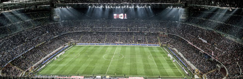 MILAN VS INTER Arkivbilder
