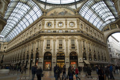 Milan, vue d'intérieur de galerie de Vittorio Emanuele Image stock