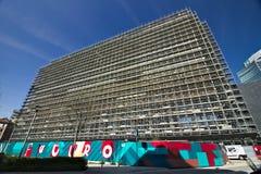 milan W?ochy r Budowa dla budowy nowożytny budynek fotografia royalty free