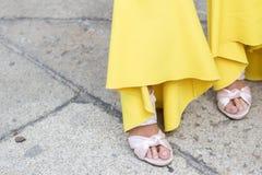 Milan woman fashion week 2018 royalty free stock image