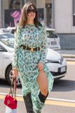 Milan woman fashion week 2018 stock photography