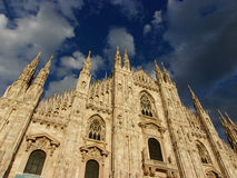 Milan at your fingertips (1). Milan Duomo Cathedral, ITALY - Reaching up to the sky royalty free stock images