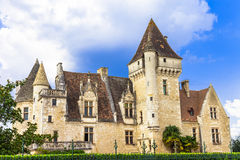 Milandes castle Royalty Free Stock Images