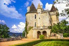 Milandes castle Royalty Free Stock Photo