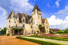 Milandes - one of most beautiful castles in France, Dordogne Stock Photography