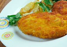 Milanesa de Pollo Royalty Free Stock Photos