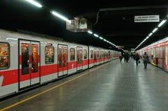 Milanese metro royalty-vrije stock afbeelding