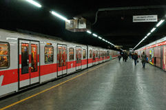 Milanese subway Royalty Free Stock Image