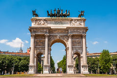 Milano, Arco della Pace. Historical building in the centre of Milan city Stock Photography