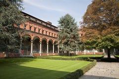 Milano - atrio de la universidad católica Fotografía de archivo libre de regalías