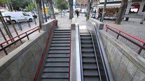Milano, Cairoli Castello, September 5, 2017 - Metro station of Cairoli Castello, collection of many shots. Milano, Cairoli Castello, September 5, 2017 - Metro stock footage