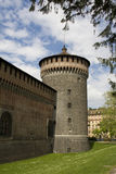 Milano, Castello Sforzesco immagine stock libera da diritti