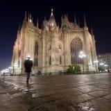 Milano cathedral at night Royalty Free Stock Photos