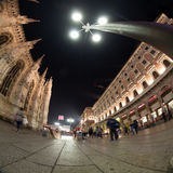 Milano cathedral wide angle view Royalty Free Stock Image