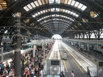 Milano central railway station Royalty Free Stock Photos