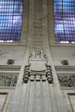 Milano Centrale railway station architectural detail Royalty Free Stock Images