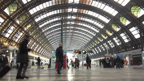 Milano Centrale railway station. In Milan, Italy stock video