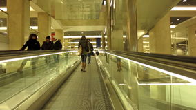 Milano Centrale train station. People on escalators in Milano Centrale train station stock video footage