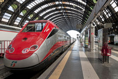 Milano Centrale train station platform Royalty Free Stock Image